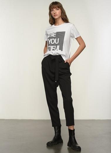 NGSTYLE Kadın Baskılı  Tişört NGKSS21TS0014 Beyaz